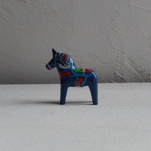 antiques スウェーデンの木馬(ブルー)