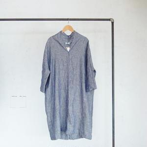 fog linen work one piece[stripe:chambray]