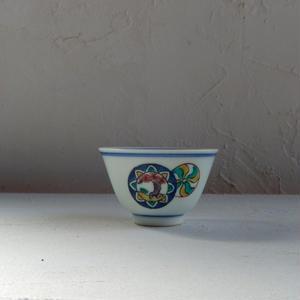 古道具  九谷の煎茶碗