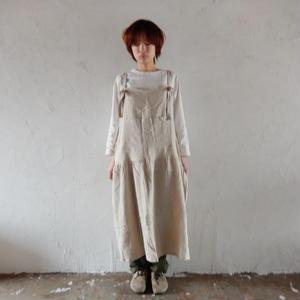 COCOLO ワンピ-スエプロン(Cotton Linen : Off white)