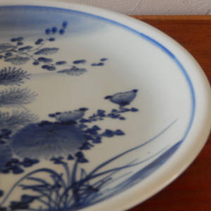 古道具 印判の大皿(9寸)
