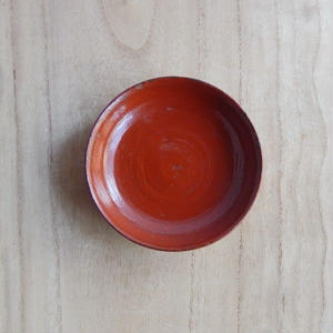 古道具  浄法寺塗 豆皿(朱)
