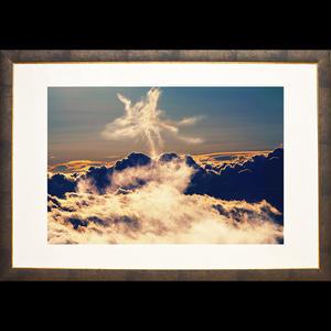 <額装>飛翔する光雲鳳凰(Sサイズ)