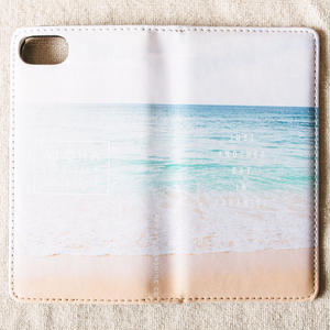 《ALOHA LIVE LIKE Collection》マグネットタイプ手帳型カバー-The Afternoon Beach-
