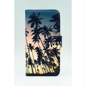 "《BULK SALE》iPhoneSE,6,6S対応 手帳ケース ""Kauai Coconuts Grove"""
