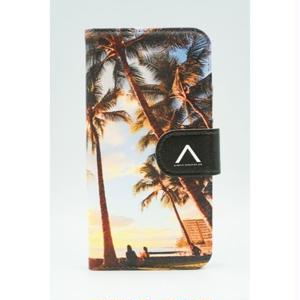 "《BULK SALE》iPhoneSE,6,6S対応 手帳ケース ""Waikiki Sunset"""