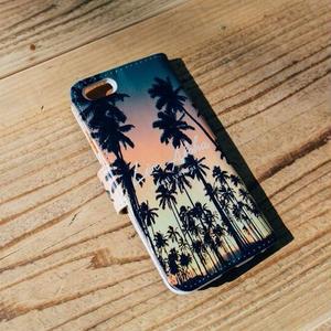 """手帳型ケース Hawaiiシリーズ """"Kauai Coconuts Grove"""""""