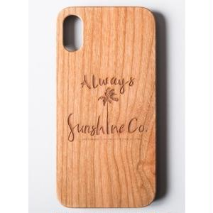 "Wooden iPhone Cover ""Sunshine Palm"""