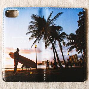 《ALOHA LIVE LIKE Collection》マグネットタイプ手帳型カバー-After Surf-