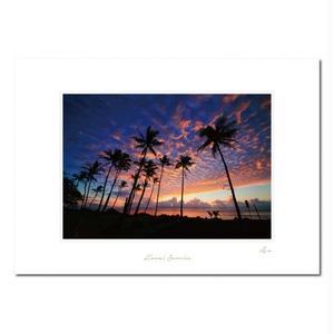 """Kauai Sunrise"" マットプリント"