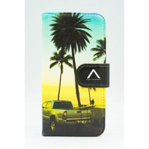 "《BULK SALE》iPhoneSE,6,6S対応 手帳ケース ""Haleiwa Sunset"""