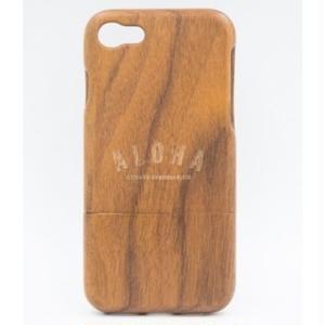 ウッド iPhone カバー ALOHA