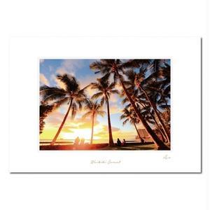 """Waikiki Sunset""マットプリント"