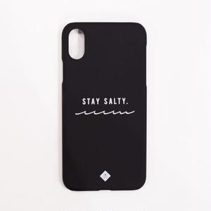 "Summer Daze Collection マットブラックiPhoneケース""STAY SALTY."""