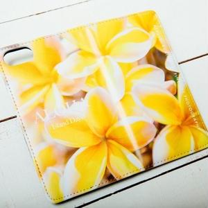 【ALOHA Island Days Collection】マグネットタイプiPhoneケース-YellowPlumeria-