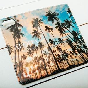 【ALOHA Island Days Collection】マグネットタイプiPhoneケース-Kauai Palm Trees-