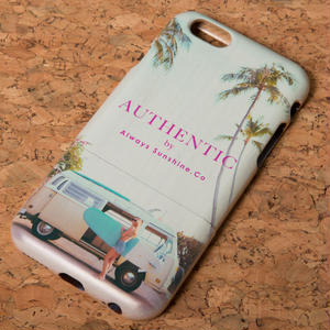 AUTHENTIC Surf Girl ウッドiPhoneケース