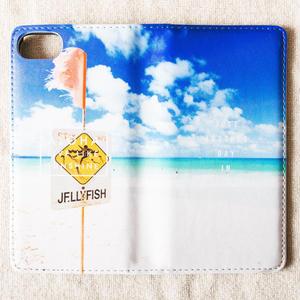 《ALOHA LIVE LIKE Collection》マグネットタイプ手帳型カバー-Jelly Fish-