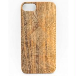"Wooden iPhone Cover ""Leaf Logo"""