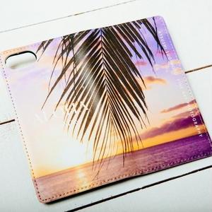 【ALOHA Island Days Collection】マグネットタイプiPhoneケース-LaidBackPalmTree-