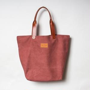 "Aloha Canvas Tote Bag""エンジ"
