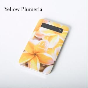 "【ALOHA Island Days Collection】モバイルバッテリー""YellowPlumeria"""