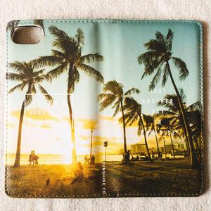 《ALOHA LIVE LIKE Collection》マグネットタイプ手帳型カバー-Kaimana Sunset-