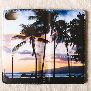 《ALOHA LIVE LIKE Collection》マグネットタイプ手帳型カバー-He Aloha No Honolulu-