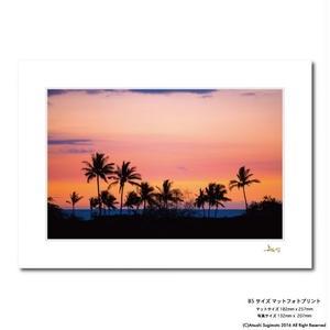 """""""Waikoloa Sunset""""マットプリント"""