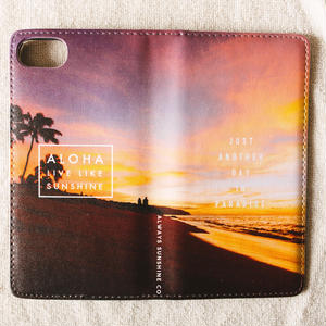 《ALOHA LIVE LIKE Collection》マグネットタイプ手帳型カバー-Haleiwa Sunset-