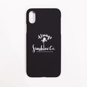 "Summer Daze Collection マットブラックiPhoneケース ""Sunshine Palm Tree"""