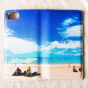 《ALOHA LIVE LIKE Collection》マグネットタイプ手帳型カバー-Sunday Beach Club-