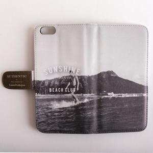 AUTHENTIC SUNSHINE BEACH CLUB 手帳型iPhoneケース
