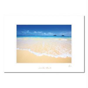"""""""Lanikai Beach Shore"""" マットプリント"""