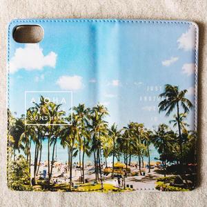 《ALOHA LIVE LIKE Collection》マグネットタイプ手帳型カバー-Aloha Waikiki-