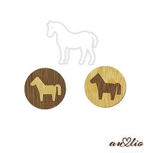 まんま~るお馬のマグネット(2個セット)