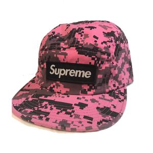 USED(新品未使用) Supreme シュプリーム NYCO Twill Camp Cap -Pink Camo-