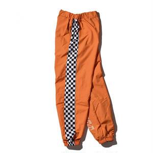 """18SS""  DLSM ディーエルエスエム DUALISM CHECKERD FLAG TRAINING Pants  -Orange-"
