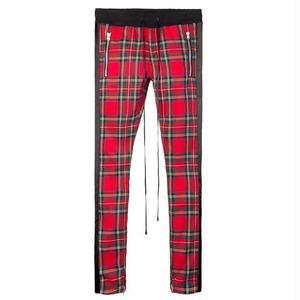 """再入荷!! """"18SS"""" mnml / ミニマル  Plaid Track Pants トラックパンツ タータンチェック   -Black/Red-"""