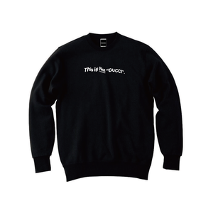 """""""18AW"""" PANDEMIC  Old Logo Crew Sweat  -This is Not-  -Black/White-"""