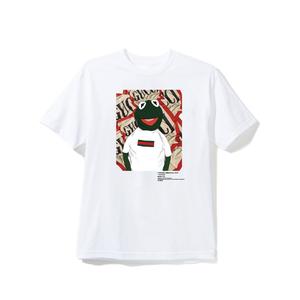 """18SS"" PANDEMIC  Frog Art Tee -Frog G〇cci-  -White-"