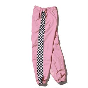 """18SS""  DLSM ディーエルエスエム DUALISM CHECKERD FLAG TRAINING Pants  -Pink-"