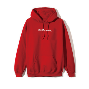 """""""18AW"""" PANDEMIC   Old Logo Hoody  -This is Not-  -Red/White-"""