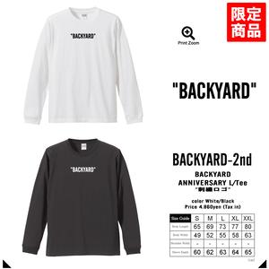 BACKYARD バックヤード 2nd Anniversary L/Tee 2周年記念L/Tシャツ -2color-