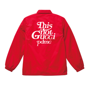 """""""18AW"""" PANDEMIC Nylon Coach Jacket  """"This is Not"""" -Red/White-"""