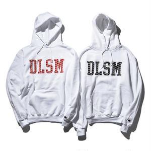 """""""12/16発売開始"""" DLSM ディーエルエスエム DLSM MONOGLAM COLLAGE LOGO HOODIE -White-"""
