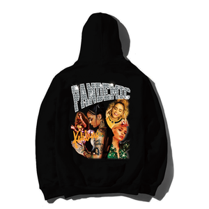 """18AW""  PANDEMIC PREMIUM Heavy Hoody  ""Kehlani ""  -1color Black-"
