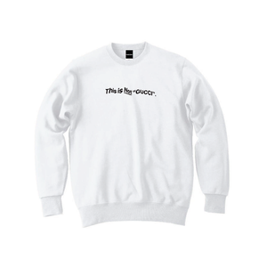 """""""18AW"""" PANDEMIC  Old Logo Crew Sweat  -This is Not-  -White/Black-"""