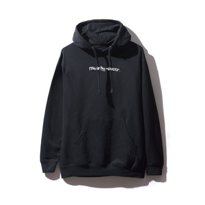 """""""18AW"""" PANDEMIC   Old Logo Hoody  -This is Not-  -Black/White-"""