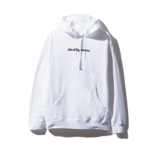 """""""18AW"""" PANDEMIC   Old Logo Hoody  -This is Not-  -White/Black-"""